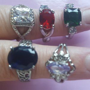 Lot of 5 rings from Jewelry in Candles (JIC)